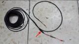 Câble 12v modifié par mes soins (noir) et fusible (flèche) [406]